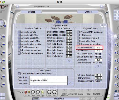 BFD使用中にシンバルやタムの音が途切れる