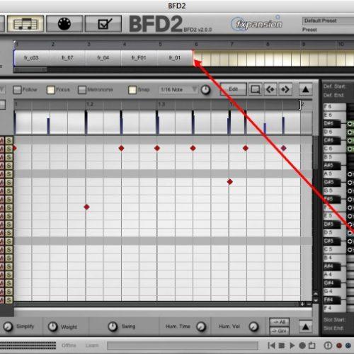 BFD2 ドラムトラックの作成、書き出し方法