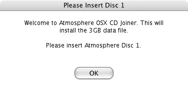 CD ROM版 Atmosphere、Trilogyのインストール方法:  OSX