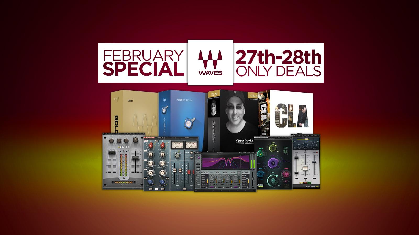 2月27日〜28日、人気のWavesバンドルとプラグインが2日間限定の特別価格!