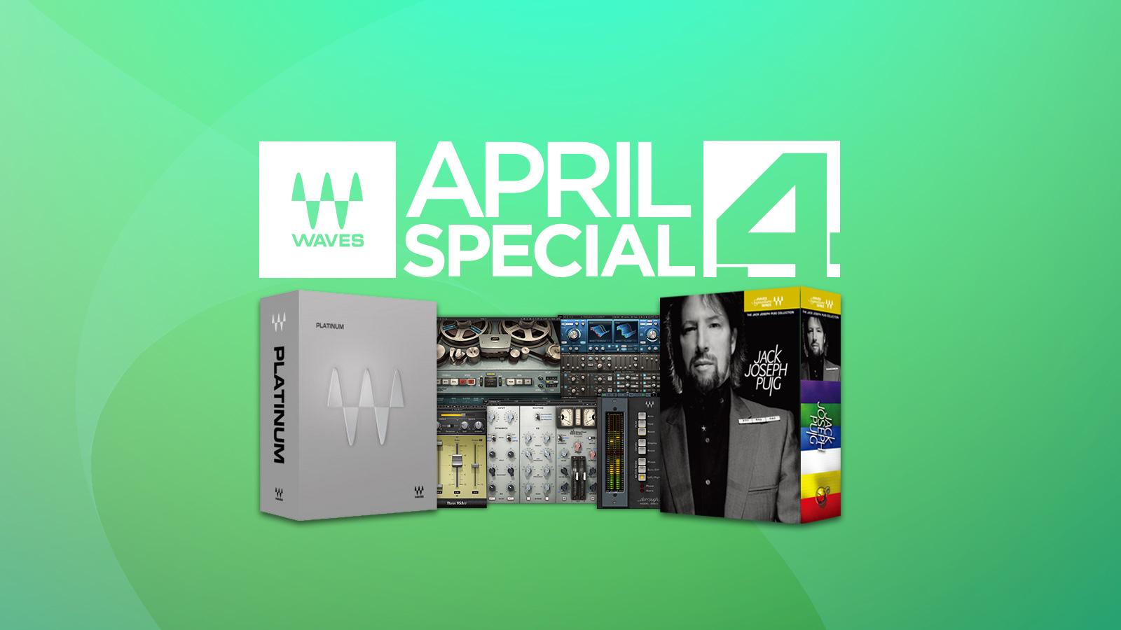 41種のバンドルと153種の単体プラグインが最大90%オフ!Waves April Special