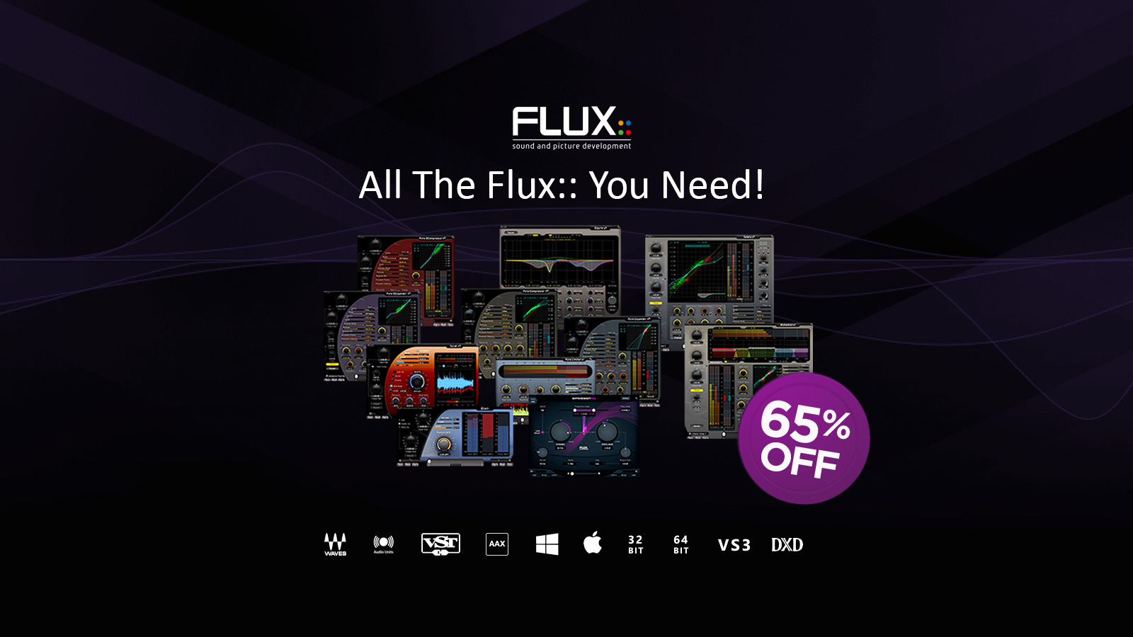 Flux:: Seriesプラグインをすべて収録、Full Pack 2.2が65%OFF!