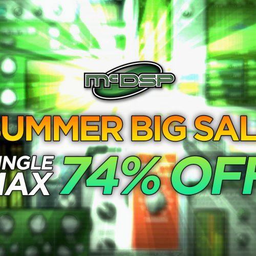McDSPの単体プラグインが最大74% OFF! Summer Big Sale 2017.
