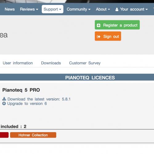Pianoteq製品 製品登録日確認方法について