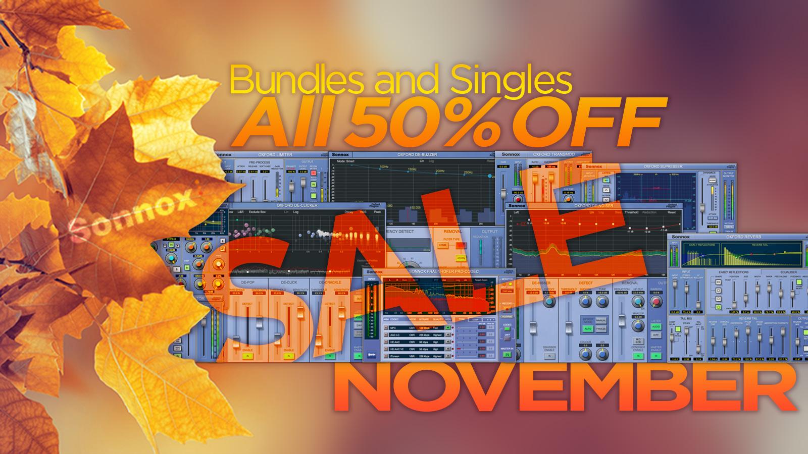 全品50%オフ!Sonnox November Sale 2017