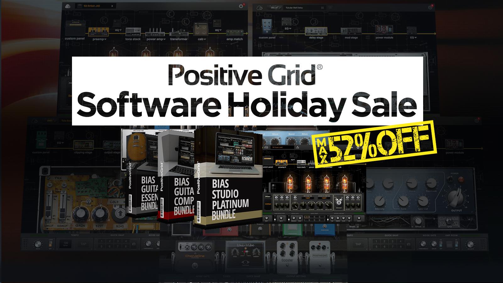 最大52%オフ!Positive Grid ソフトウェア Holiday Sale