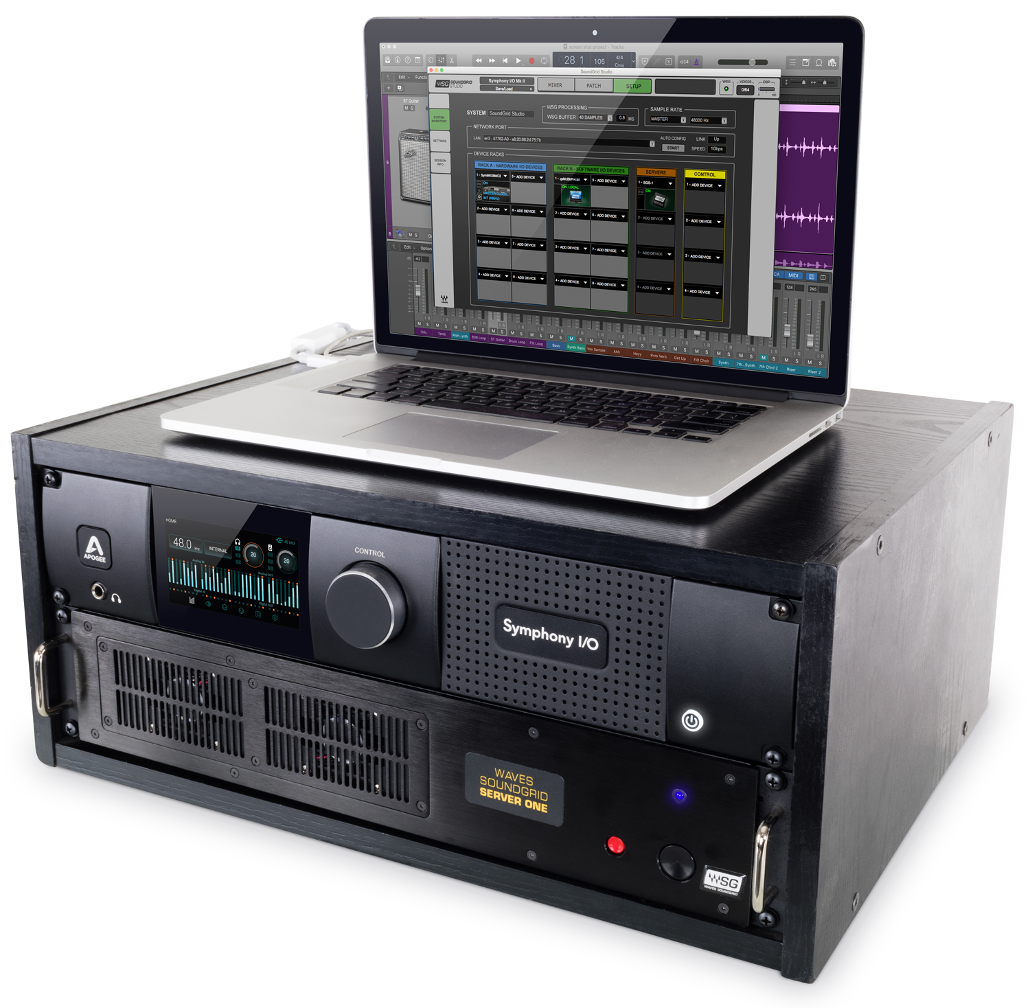20180112_apogee_symphonyio_mkii_sg_sio-soundgrid-laptop-3-quarters-left-logic-1500
