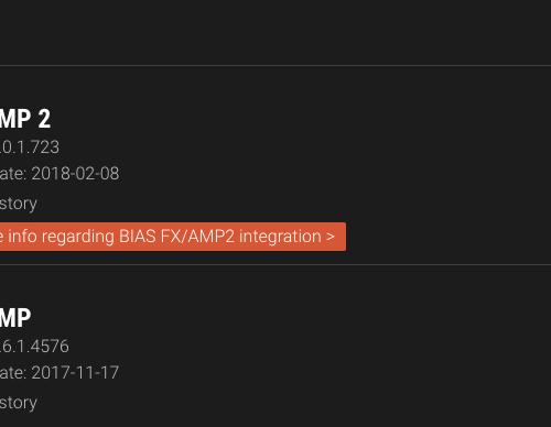 BIAS Amp 2 無償アップグレードについて