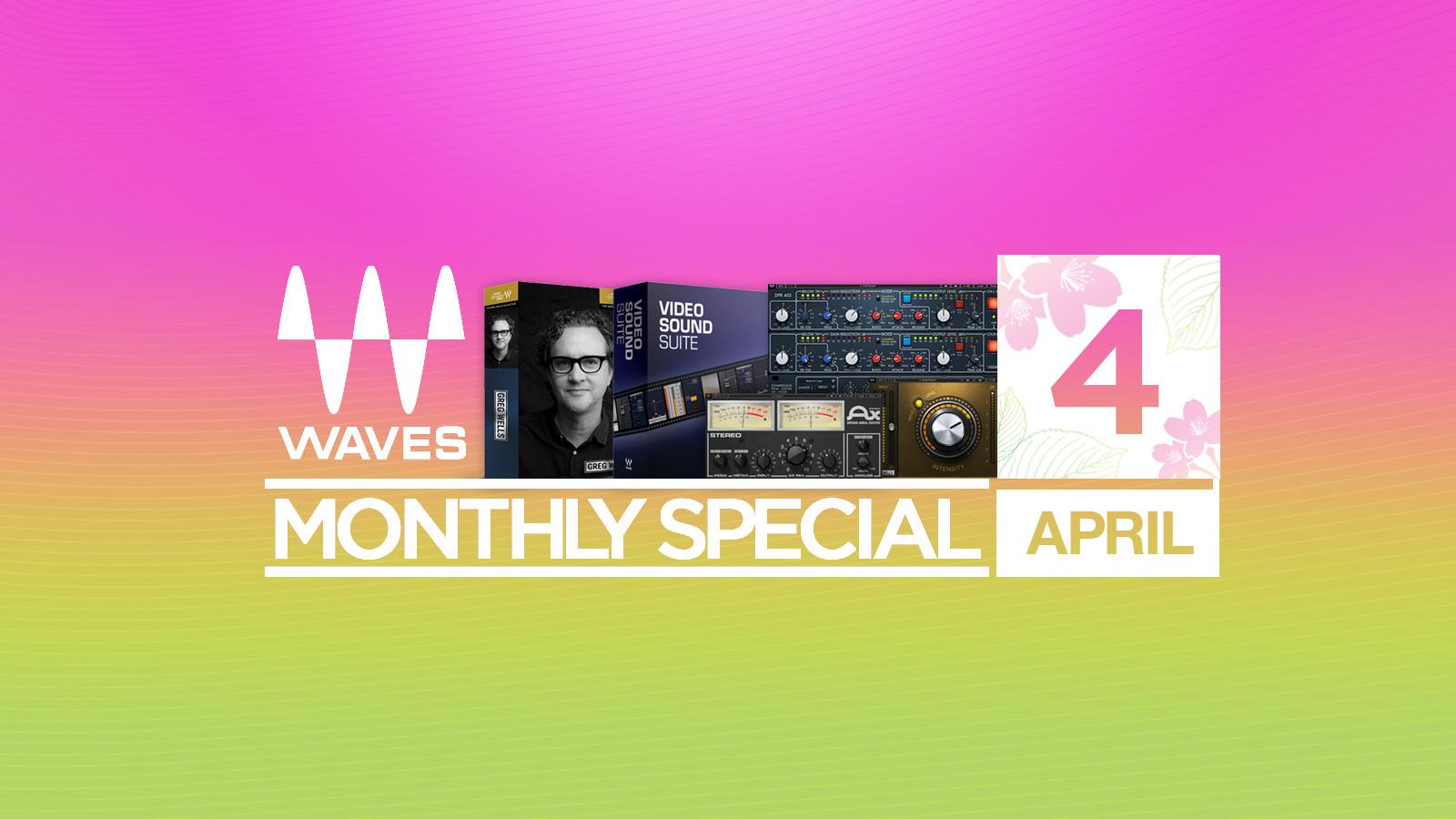 200種以上のバンドル・単体プラグインが最大92%オフ!Waves April Special 2018