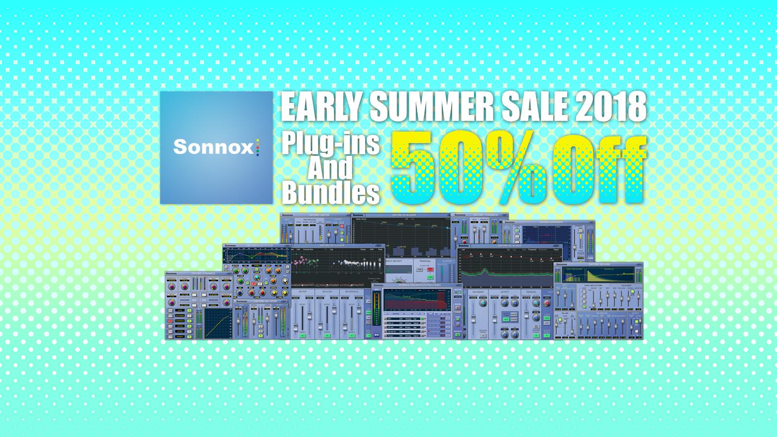 全品50% OFF! Sonnox Early Summer Sale 2018