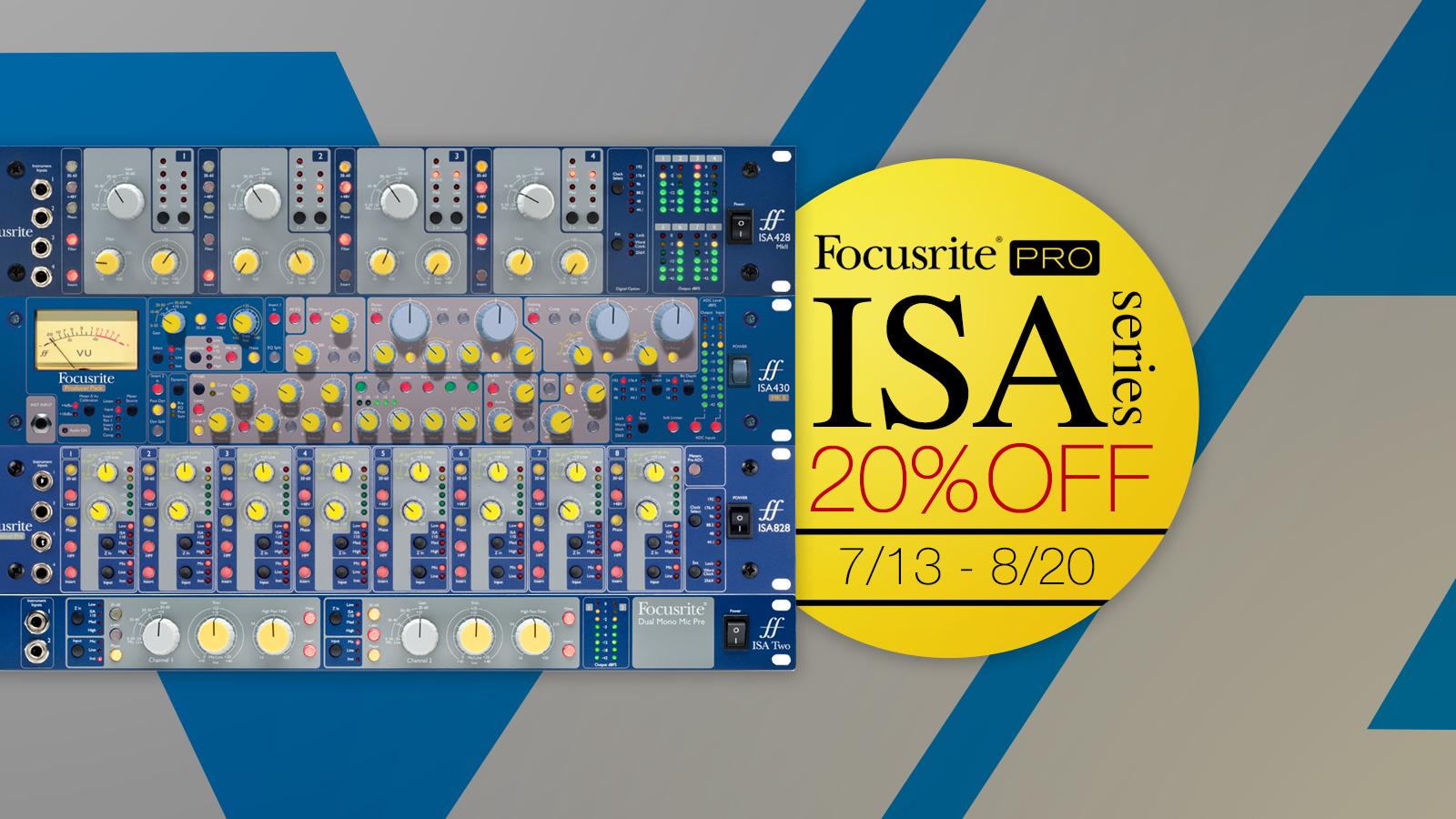 ISA 110の伝統とヒストリーを体感!ISAマイク・プリアンプ・シリーズ20%オフ・プロモーション